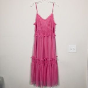 Dresses & Skirts - Pink Dress size 12 Sheer with lining